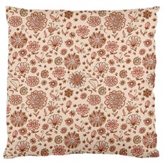 Retro Sketchy Floral Patterns Large Flano Cushion Case (one Side) by TastefulDesigns