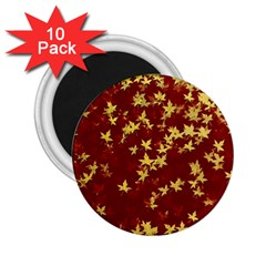 Background Design Leaves Pattern 2 25  Magnets (10 Pack)  by Simbadda