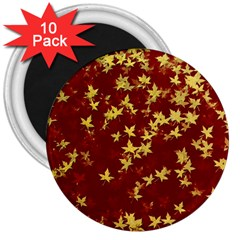 Background Design Leaves Pattern 3  Magnets (10 Pack)  by Simbadda