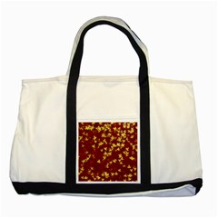 Background Design Leaves Pattern Two Tone Tote Bag by Simbadda
