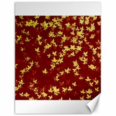Background Design Leaves Pattern Canvas 12  X 16   by Simbadda
