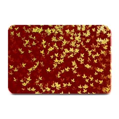 Background Design Leaves Pattern Plate Mats by Simbadda