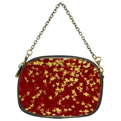 Background Design Leaves Pattern Chain Purses (one Side)  by Simbadda
