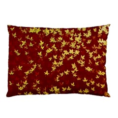 Background Design Leaves Pattern Pillow Case by Simbadda
