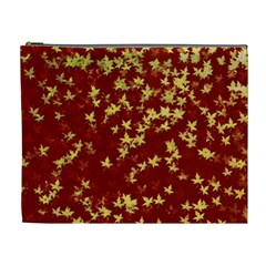 Background Design Leaves Pattern Cosmetic Bag (xl) by Simbadda