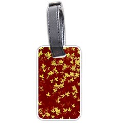 Background Design Leaves Pattern Luggage Tags (one Side)  by Simbadda
