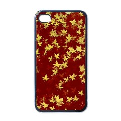 Background Design Leaves Pattern Apple Iphone 4 Case (black) by Simbadda