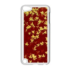 Background Design Leaves Pattern Apple Ipod Touch 5 Case (white) by Simbadda