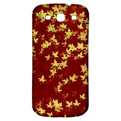 Background Design Leaves Pattern Samsung Galaxy S3 S Iii Classic Hardshell Back Case by Simbadda