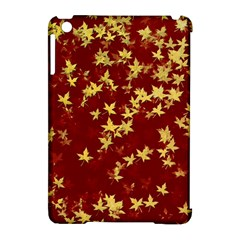 Background Design Leaves Pattern Apple Ipad Mini Hardshell Case (compatible With Smart Cover) by Simbadda