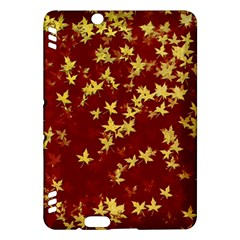 Background Design Leaves Pattern Kindle Fire Hdx Hardshell Case by Simbadda