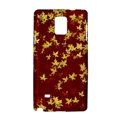 Background Design Leaves Pattern Samsung Galaxy Note 4 Hardshell Case by Simbadda