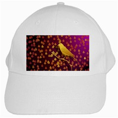 Bird Design Wall Golden Color White Cap by Simbadda