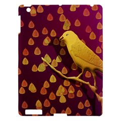 Bird Design Wall Golden Color Apple Ipad 3/4 Hardshell Case by Simbadda