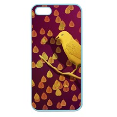 Bird Design Wall Golden Color Apple Seamless Iphone 5 Case (color) by Simbadda