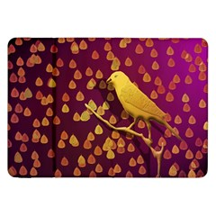 Bird Design Wall Golden Color Samsung Galaxy Tab 8 9  P7300 Flip Case by Simbadda