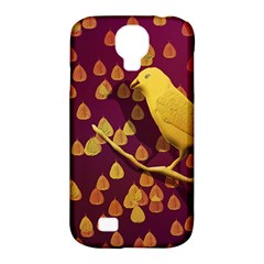 Bird Design Wall Golden Color Samsung Galaxy S4 Classic Hardshell Case (pc+silicone) by Simbadda
