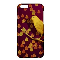 Bird Design Wall Golden Color Apple Iphone 6 Plus/6s Plus Hardshell Case by Simbadda