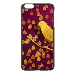 Bird Design Wall Golden Color Apple Iphone 6 Plus/6s Plus Black Enamel Case by Simbadda
