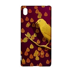 Bird Design Wall Golden Color Sony Xperia Z3+ by Simbadda