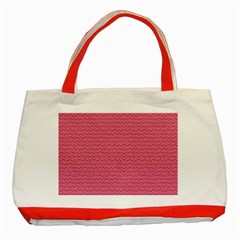 Background Letters Decoration Classic Tote Bag (red) by Simbadda
