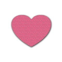 Background Letters Decoration Heart Coaster (4 Pack)  by Simbadda