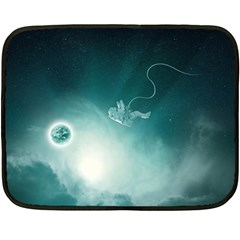 Astronaut Space Travel Gravity Double Sided Fleece Blanket (mini)  by Simbadda