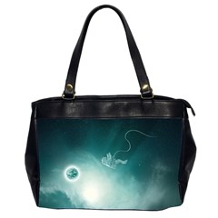Astronaut Space Travel Gravity Office Handbags (2 Sides)  by Simbadda