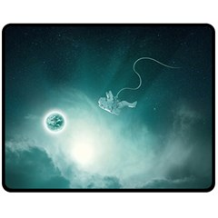 Astronaut Space Travel Gravity Fleece Blanket (medium)  by Simbadda