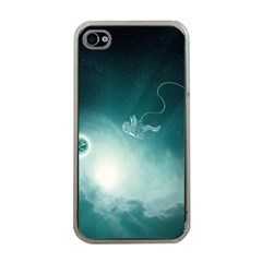 Astronaut Space Travel Gravity Apple Iphone 4 Case (clear) by Simbadda