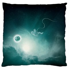 Astronaut Space Travel Gravity Large Cushion Case (two Sides) by Simbadda
