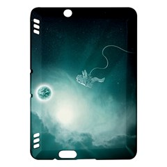 Astronaut Space Travel Gravity Kindle Fire Hdx Hardshell Case by Simbadda