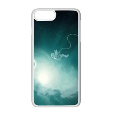 Astronaut Space Travel Gravity Apple Iphone 7 Plus White Seamless Case by Simbadda