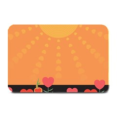 Love Heart Valentine Sun Flowers Plate Mats by Simbadda