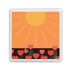 Love Heart Valentine Sun Flowers Memory Card Reader (square)  by Simbadda