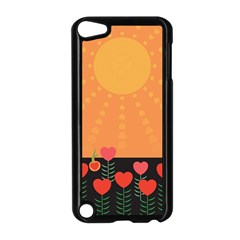 Love Heart Valentine Sun Flowers Apple Ipod Touch 5 Case (black) by Simbadda