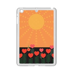 Love Heart Valentine Sun Flowers Ipad Mini 2 Enamel Coated Cases by Simbadda