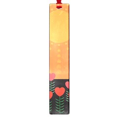 Love Heart Valentine Sun Flowers Large Book Marks by Simbadda