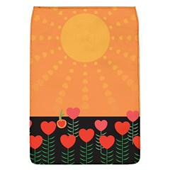 Love Heart Valentine Sun Flowers Flap Covers (l)  by Simbadda