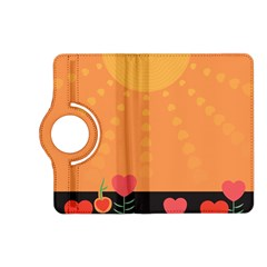 Love Heart Valentine Sun Flowers Kindle Fire Hd (2013) Flip 360 Case by Simbadda