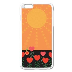 Love Heart Valentine Sun Flowers Apple Iphone 6 Plus/6s Plus Enamel White Case by Simbadda