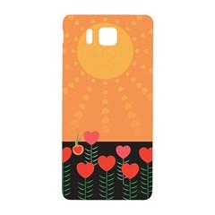 Love Heart Valentine Sun Flowers Samsung Galaxy Alpha Hardshell Back Case by Simbadda