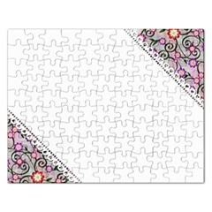 Floral Ornament Baby Girl Design Rectangular Jigsaw Puzzl