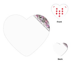 Floral Ornament Baby Girl Design Playing Cards (heart)  by Simbadda