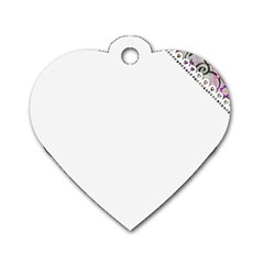 Floral Ornament Baby Girl Design Dog Tag Heart (one Side) by Simbadda
