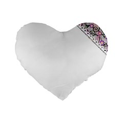 Floral Ornament Baby Girl Design Standard 16  Premium Heart Shape Cushions by Simbadda