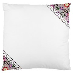 Floral Ornament Baby Girl Design Large Flano Cushion Case (one Side) by Simbadda