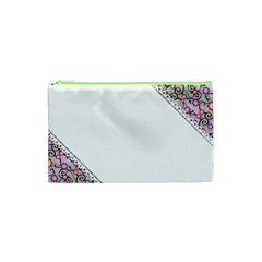 Floral Ornament Baby Girl Design Cosmetic Bag (xs) by Simbadda