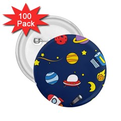 Space Background Design 2 25  Buttons (100 Pack)  by Simbadda