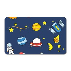 Space Background Design Magnet (rectangular) by Simbadda